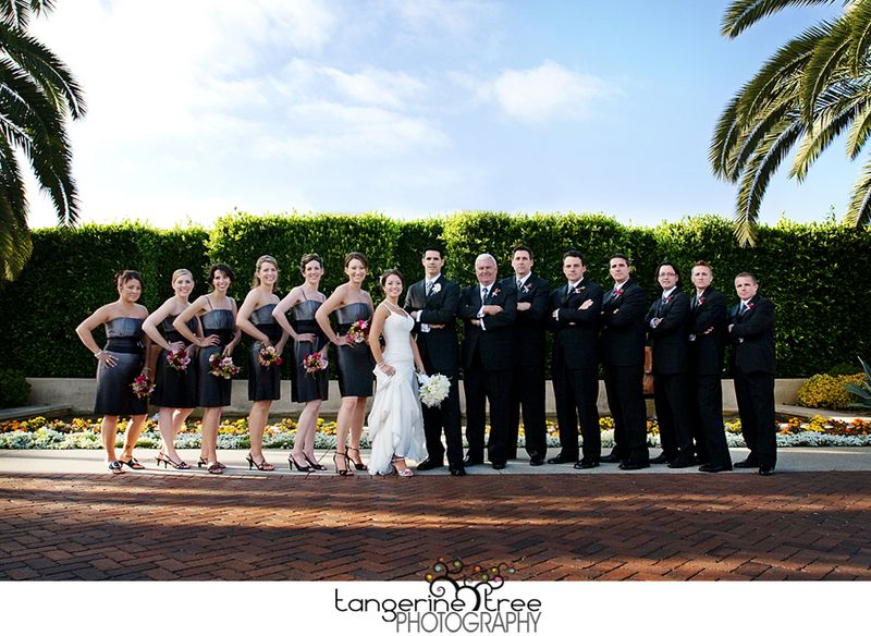 Large wedding party estancia la jolla