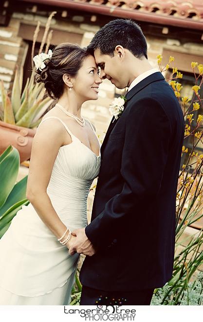 Bride groom san diego wedding estancia