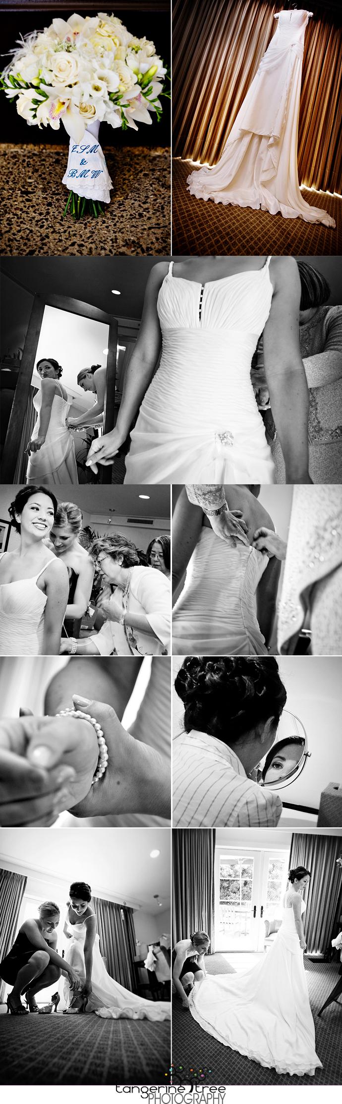 Bride preparing estancia la jolla