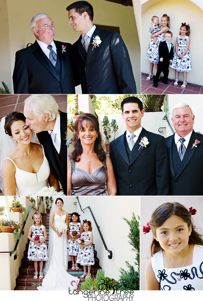 Family estancia la jolla wedding