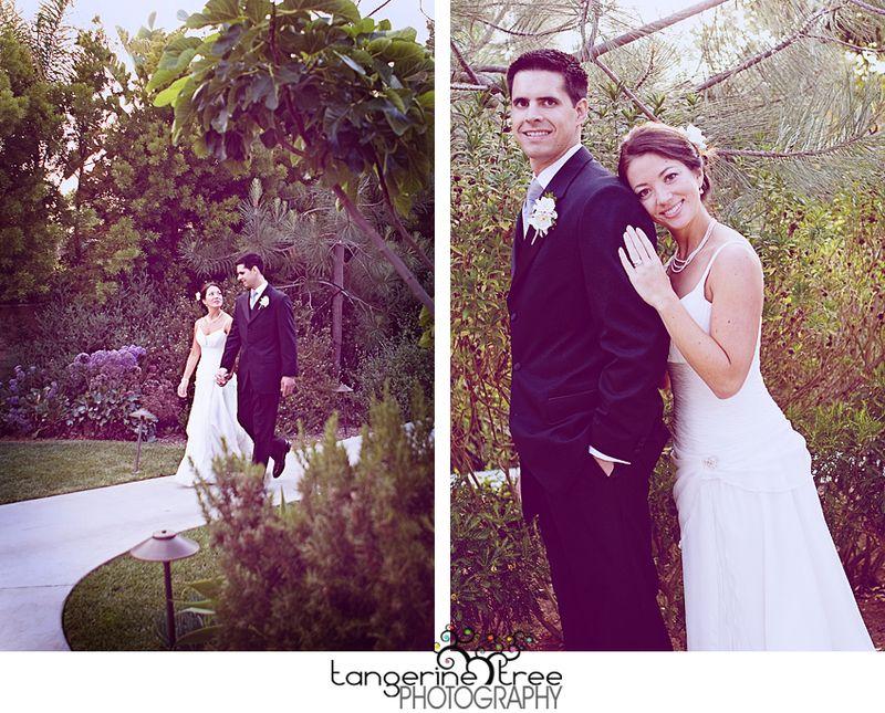 Bride and goom estancia la jolla wedding