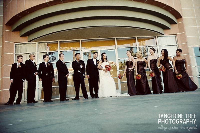 Cool hip large wedding party san diego