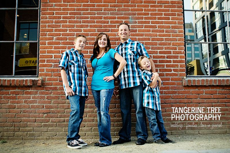 Fun modern family photography