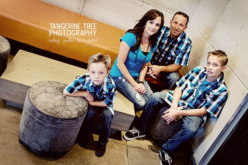 Urban modern family portraits san diego