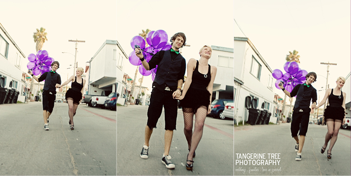 Cute fun modern engagement balloons