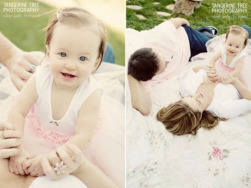 Modern family photography with baby