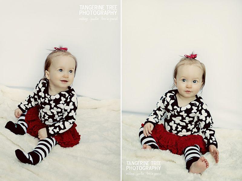 Modern baby photography watch me grow